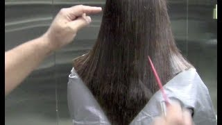How to cut a V SHAPE outline Step By Step (How to cut the V Shape outline haircut)