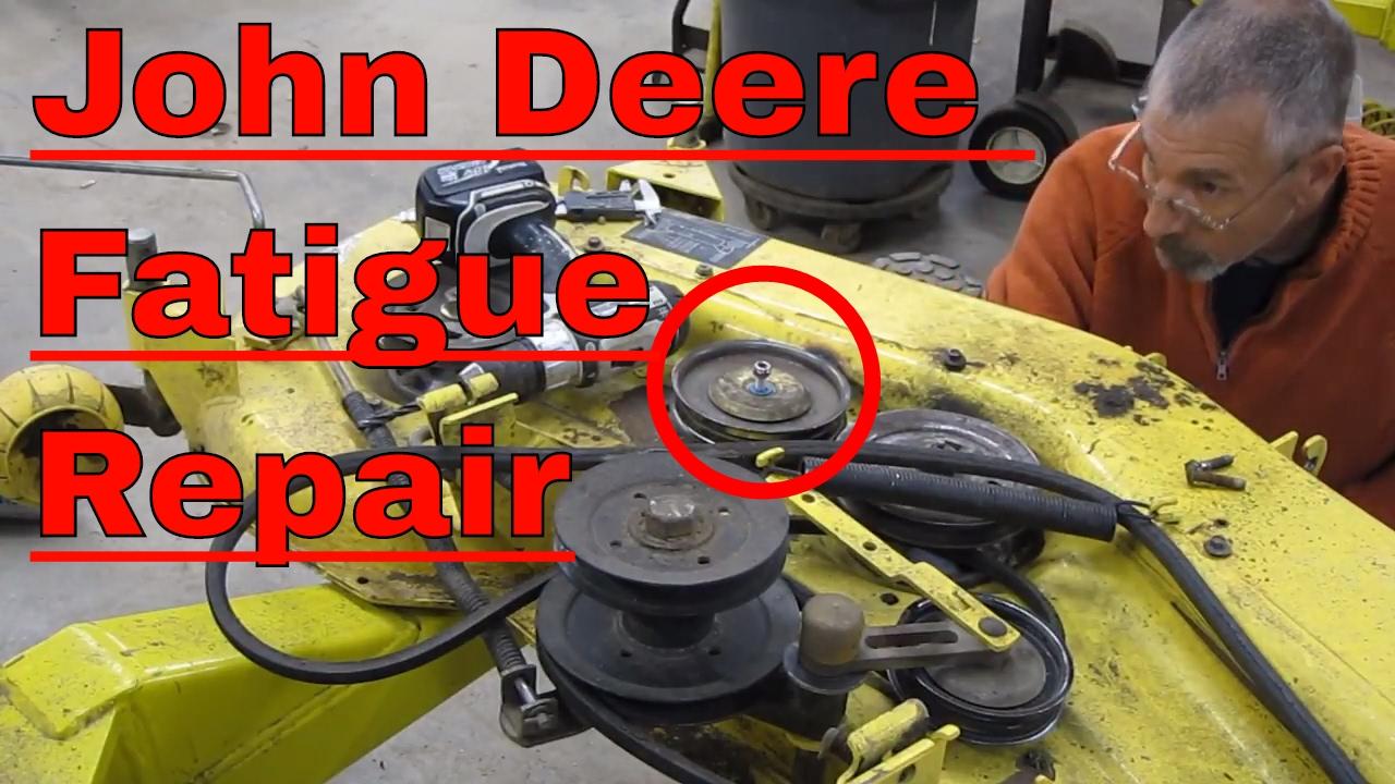 John Deere Mower Deck Repair Idler And Welding