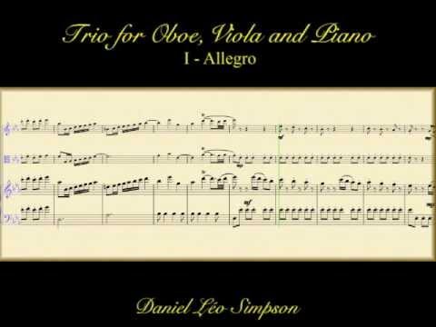 Trio for Oboe, Viola & Pianoforte in Eb ~ Daniel Léo Simpson (Complete 3 movements)