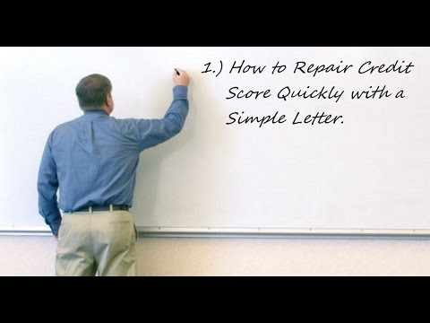 How To Repair Credit Score Quickly
