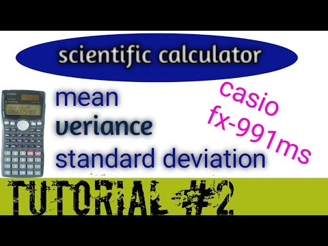 Casio Fx991ms Standard Deviation,mean,veriance|how To Calculate Standard Deviation By Casio Fx991ms