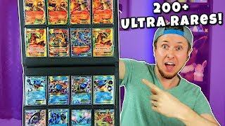 🌟OVER 200 ULTRA RARE POKEMON CARDS IN ONE BINDER! First Time Opening My Collection for Display