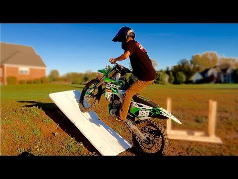 Dirt Bike Ramp >> Sketchy Dirt Bike Ramp Youtube
