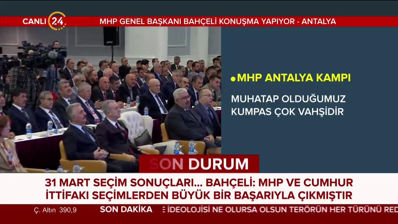 MHP Genel Başkanı Bahçeli'den Antalya'da tarihi konuşma (21 Nisan 2019)