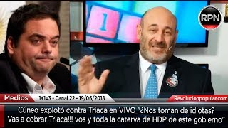 *IMPERDIBLE* Cúneo explotó contra Triaca (Editorial 19/06/2019)