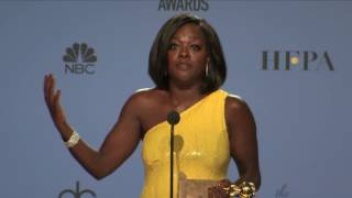 Golden Globes 2017 Viola Davis Backstage Interview