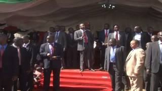 Rowdy Youths Disrupt President Kenyatta's Meeting In Migori
