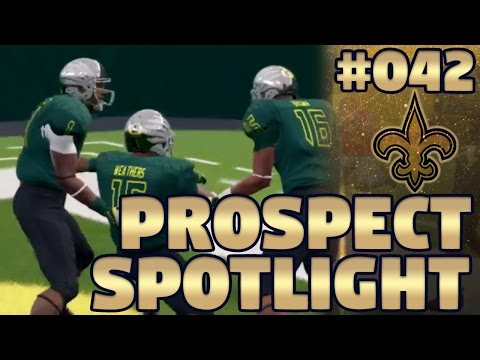 Madden NFL 17 Saints Franchise Ep. 42 | Prospect Spotlight #9: Tight Ends (NCAA 14 Footage)