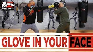 Get Past Long Range Jab | Stiff arm Jab | Glove in Your Face