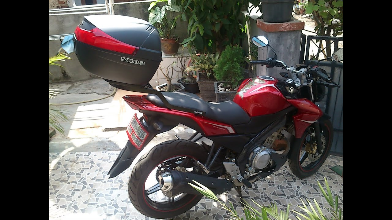 yamaha new vixion lightning with shad sh33 top case box youtube. Black Bedroom Furniture Sets. Home Design Ideas