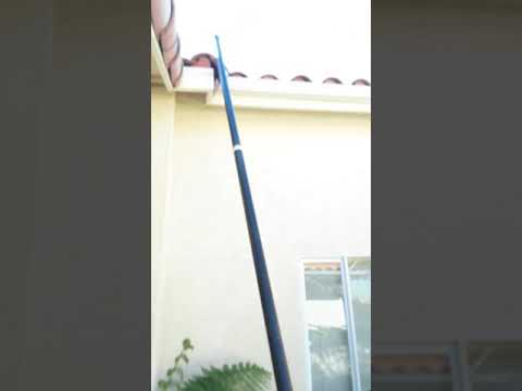 How to flush your  rain gutters out from the ground.by David stears window and rain gutter cleaning.