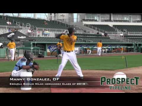 Manny Gonzalez Prospect Video, OF, Escuela Basilio Milan Hernandez Class of 2018