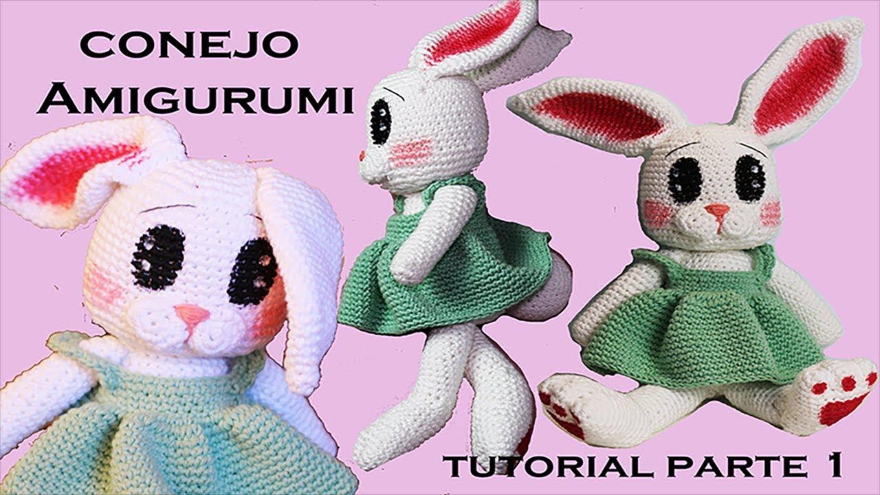 Amigurumis Conejos Paso A Paso : Amigurumi conejo tutorial a crochet paso a paso parte diy