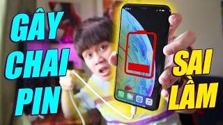 TOP HIỂU LẦM/THÓI QUEN TAI HẠI GÂY CHAI PIN iPHONE - THAY ĐỔI NGAY HÔM NAY!!!