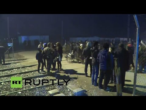 LIVE from refugee protest in Idomeni after EU-Turkey deal re