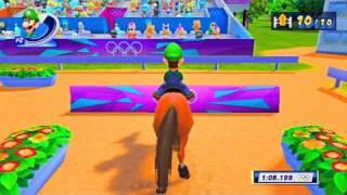 Mario Luigi vs Wario Waluigi in (EQUESTRIAN) SHOW JUMPING!!