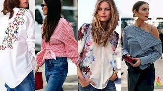 видео Стильные и модные женские рубашки
