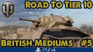 Covenanter (Tier 4) - Road to Tier Ten - British Mediums (WoT PS4) #5