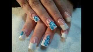 Flower nail art maiking ideas