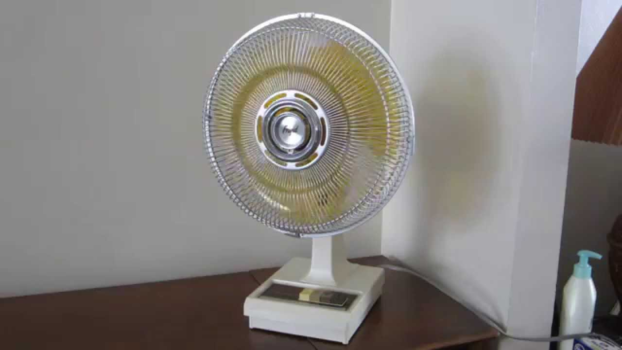 First Electric Fan : Frigid quot desk fan model fd w youtube