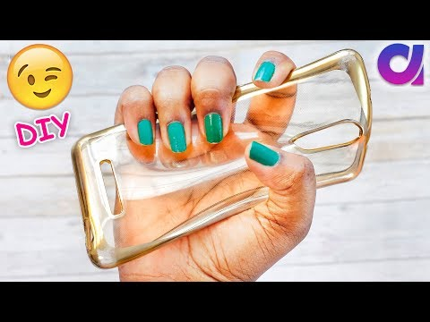 How to convert your ugly phone case into coolest DIY phone case | Best out of waste | Artkala 459