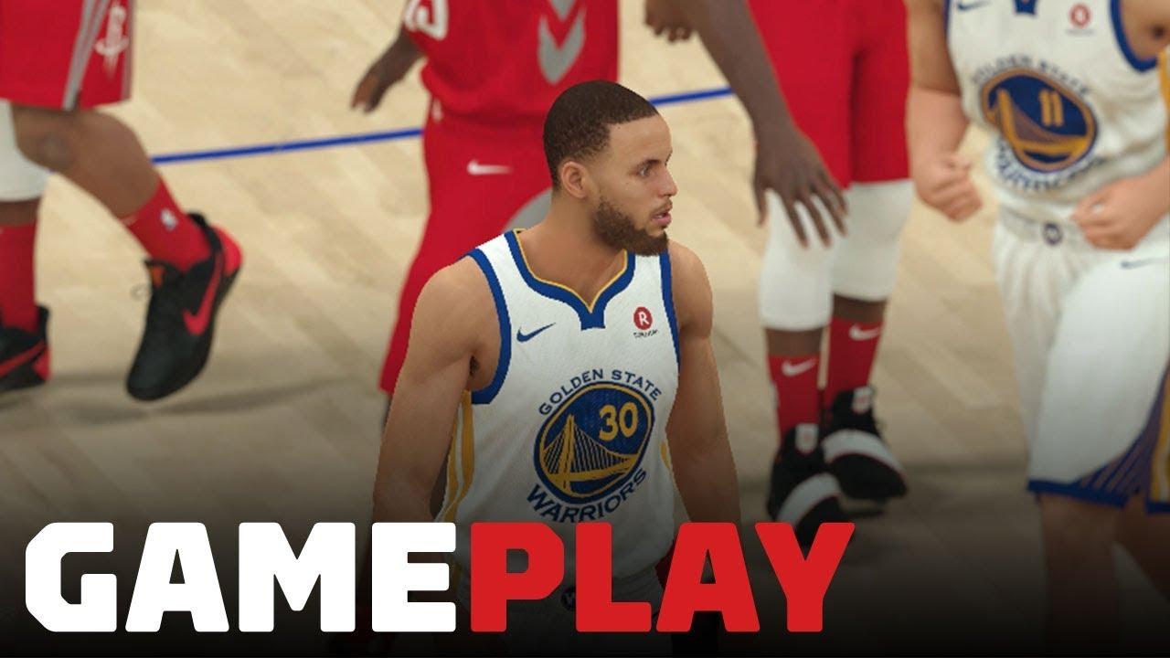 836c40db142 NBA 2K19  Warriors vs. Rockets Gameplay (FULL QUARTER OF XBOX ONE X ...