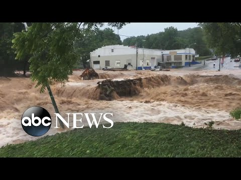 Massive flooding in Missouri cuts off access to main roads