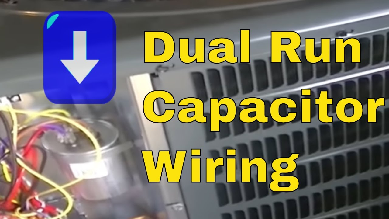 Hvac Training Dual Run Capacitor Wiring Youtube Motor Contactor Diagrams Furnace