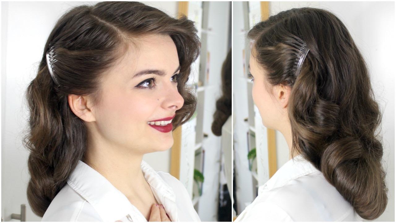 40s brush long hair tutorial