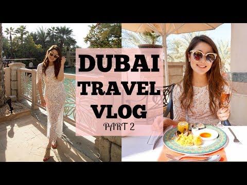 DUBAI TRAVEL VLOG (Pt.2) – Burj Khalifa & Friday Brunch at Madinat Jumeirah  | Heels on the Go