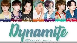 BTS (방탄소년단) - 'DYNAMITE' (ACOUSTIC REMIX) Lyrics [Color Coded_Eng]