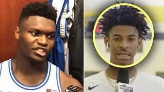 """Ja Morant Says """"I Am A LOT BETTER Than ZION"""" And Zion GETS UPSET"""