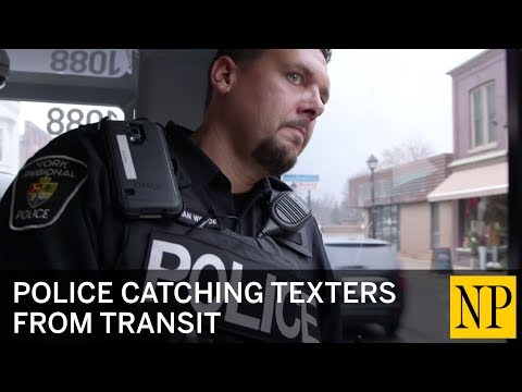 Police catching texters from transit