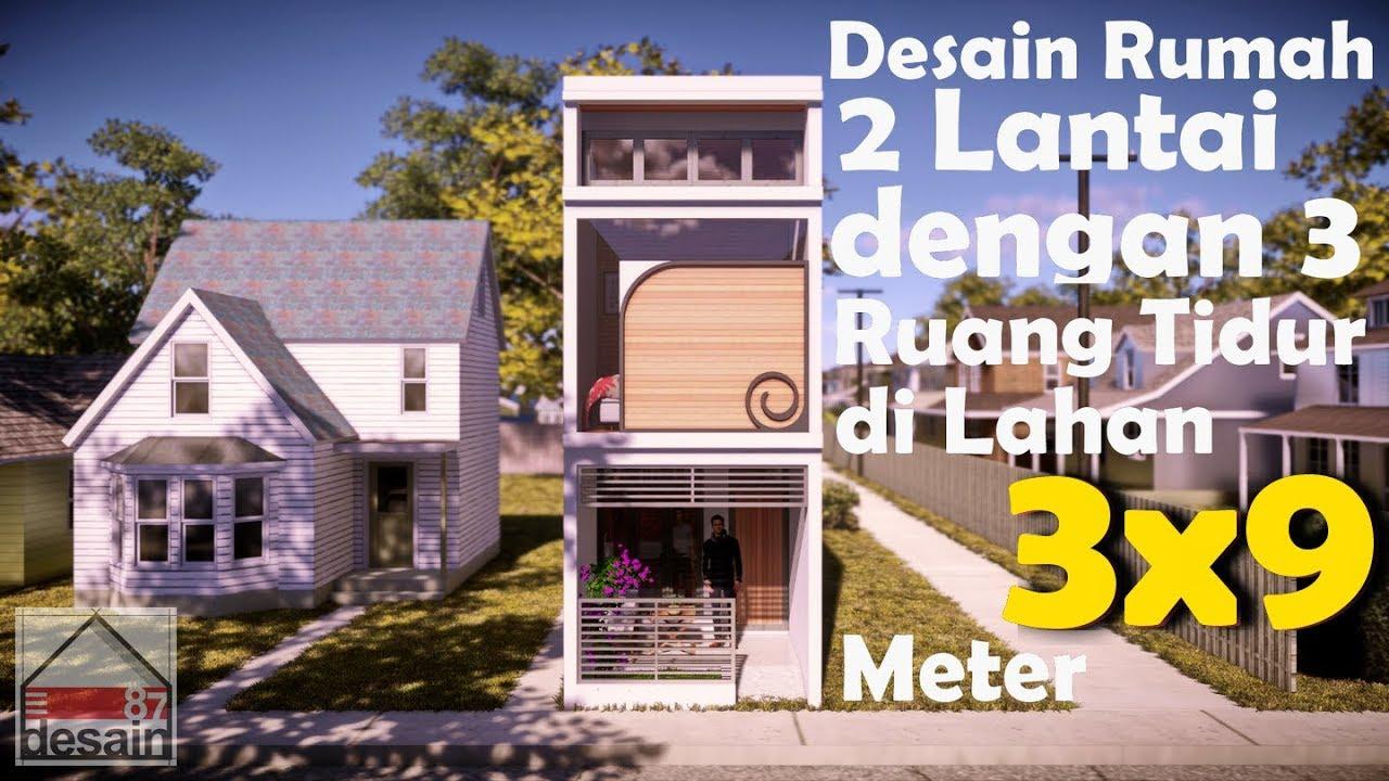 Desain Rumah 2 Lantai Balkon