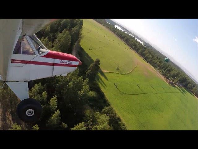 Super Cub landing at Pine Hollow Airport