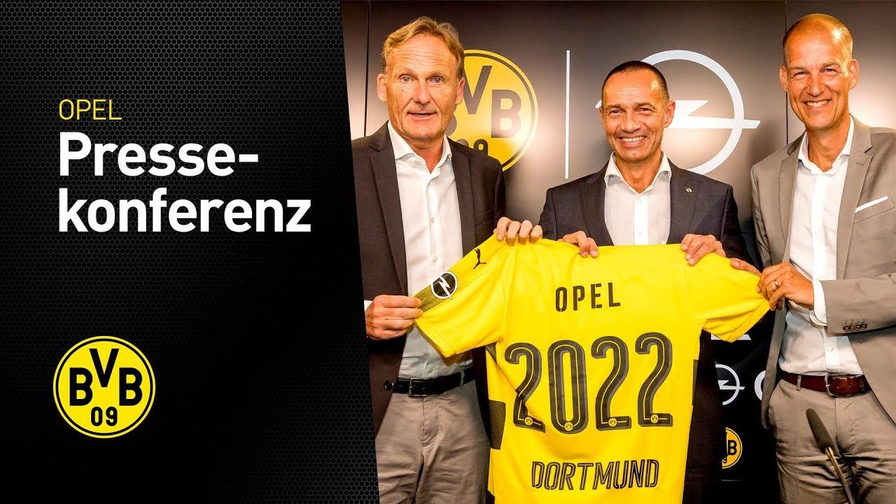 Pressekonferenz: BVB und Opel intensivieren und verlängern Zusammenarbeit