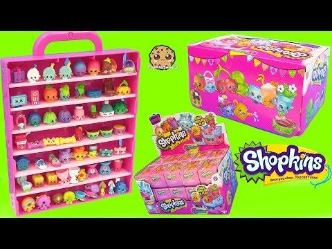 Surprise Mystery Blind Bag Shopkins Season 4 Full Box & Collectors Display Case - Cookieswirlc Video
