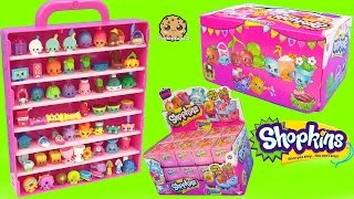 surprise mystery blind bag shopkins season 4 full box collectors display case cookieswirlc video