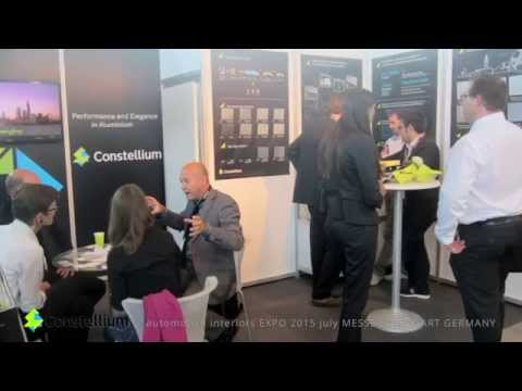 Video stand CONSTELLIUM Automotive Interiors EXPO 2015 july MESSE STUTTGART GERMANY iStandVideo