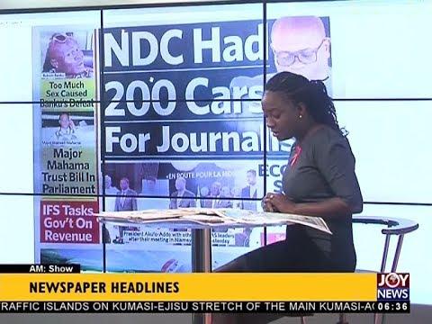 AM Show Newspaper Headlines on JoyNews (25-10-17)