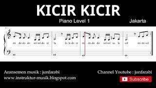 not balok kicir kicir - piano level 1 - lagu daerah jakarta / betawi - dorem / sol mi sa si