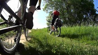 Мини-велопоход на речку.(Июньский велопоход к реке.Поиск места для стоянки.Переправа на другой берег., 2015-07-01T20:36:23.000Z)