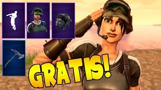 HOW TO GET A SKIN, MOCHILA, PICO AND BAILE TOTALLY FREE - FORTNITE/MaxiLunaPMY
