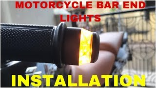 Download Video Motorcycle Bar End Lights Installation Video | Pulsar 220 And Any Bikes MP3 3GP MP4