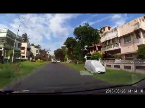 Kalyani -  Digonal Road - Towards 1 No. Bazer - Car Dashboard Cam 1080p 60fps