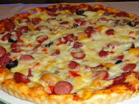 صورة  طريقة عمل البيتزا طريقة تحضير| بيتزا السوسيس سهلة جدا وبيسطة طريقة عمل البيتزا من يوتيوب