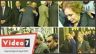 جابر نصار وثروت الخرباوى  يشاركون فى عزاء إبراهيم نافع بمسجد عمر مكرم