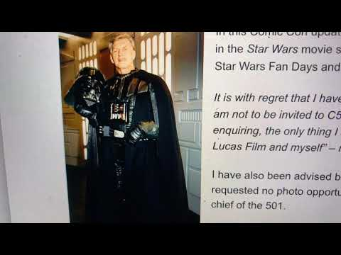Why Star Wars David Prowse Was Banned From Comic Con Star Wars Fan Days, 501 Squadron Photo Events