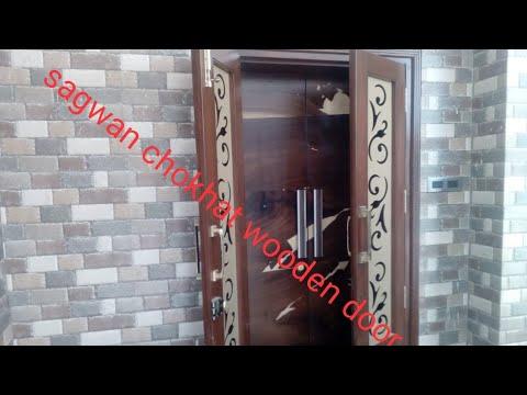 Sagwan chokhat wooden door frame design stylish look photo frame Sunmica vanier formica design