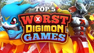 Top 5 Worst Digimon Games!